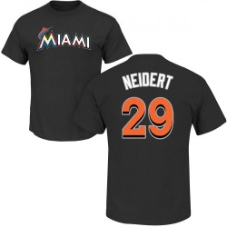 Youth Nick Neidert Miami Marlins Roster Name & Number T-Shirt - Black