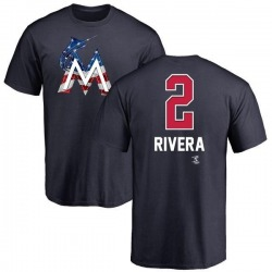 Youth Yadiel Rivera Miami Marlins Name and Number Banner Wave T-Shirt - Navy